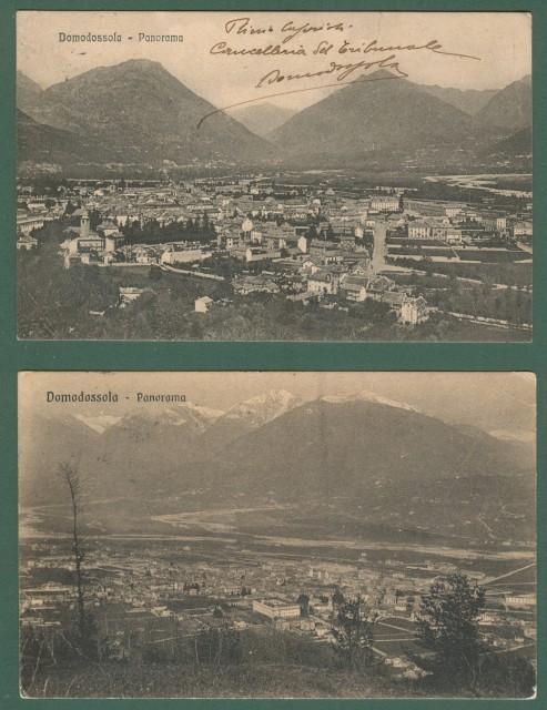 DOMODOSSOLA, Novara. Cartoline d'epoca viaggiate nel 1912 e nel 1915.