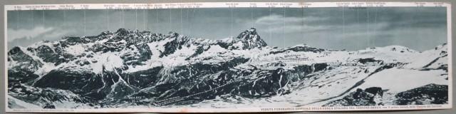 VALLE D'AOSTA, Alpi. Cervino. Cartolina tripla.