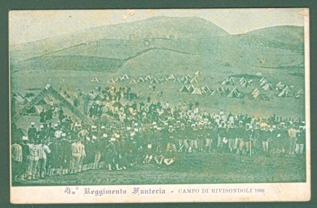 ABRUZZO. RIVISONDOLI, Aquila. 4'° Reggimento Fanteria. Campo di Rivisondoli 1903.