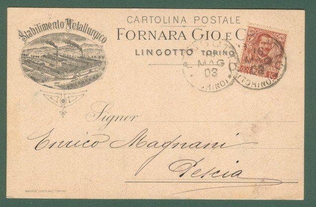 Piemonte. LINGOTTO, Torino. Stabilimento Metallurgico Fornara Gio. e C..