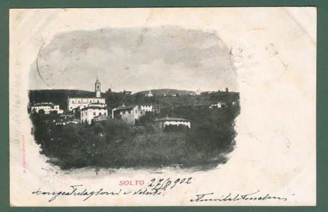 Lombardia. SOLTO, Bergamo. Cartolina d'epoca viaggiata nel 1902