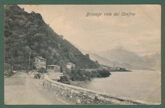 SVIZZERA. BRISSAGO, lago Maggiore, Cantone Ticino. Brissago visto dal confine
