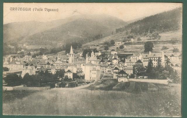 Piemonte. CRAVEGGIA, Valle Vigezzo, Verbania. Cartolina d'epoca viaggiata nel 1911