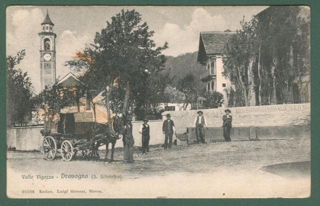 Piemonte. DRAVOGNO, Valle Vigezzo, Verbania. Cartolina d'epoca viaggiata nel 1912