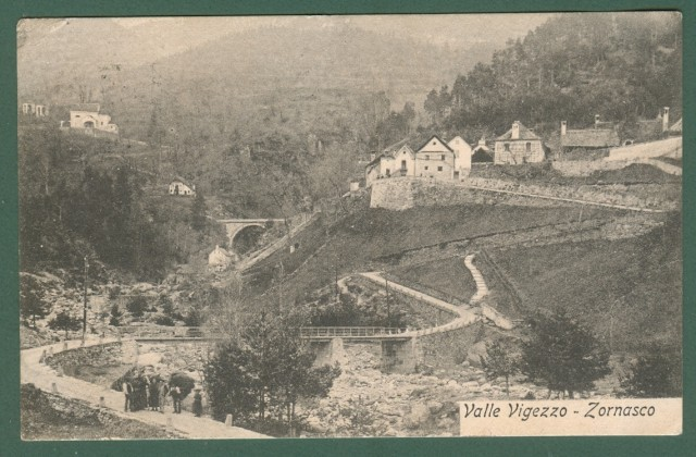 Piemonte. ZORNASCO, Valle Vigezzo, Verbania. Cartolina d'epoca viaggiata nel 1907