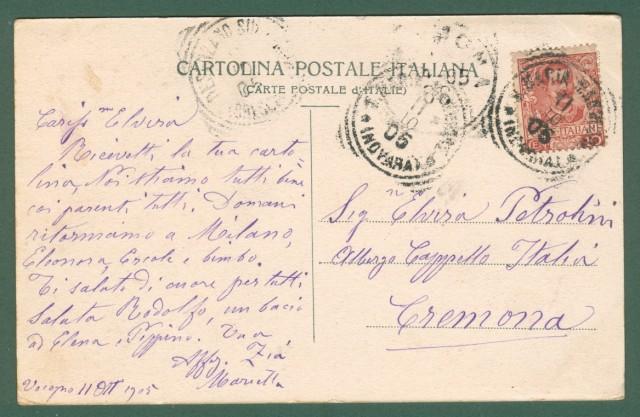 Piemonte. CRANA, Valle Vigezzo, Verbania. Cartolina d'epoca viaggiata nel 1905