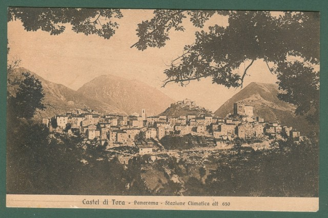 Calabria. CASTEL DITORIA, Cosenza. Panorama. Cartolina d'epoca viaggiata nel 1928