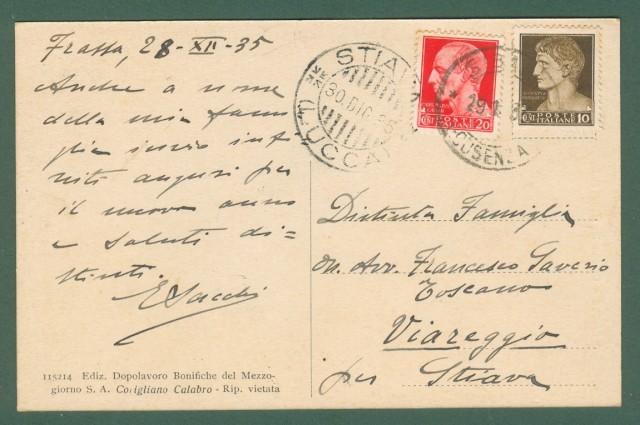 Calabria. VILLAGGIO FRASSA, Cosenza. Chiesa di S. Benedetto. Cartolina d'epoca viaggiata nel 1935