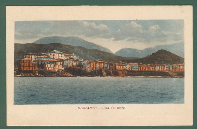 Calabria. DIAMANTE, Cosenza. Cartolina d'epoca viaggiata nel 1926.