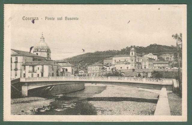 Calabria. COSENZA. Ponte sul Busente. Cartolina d'epoca viaggiata nel 1922