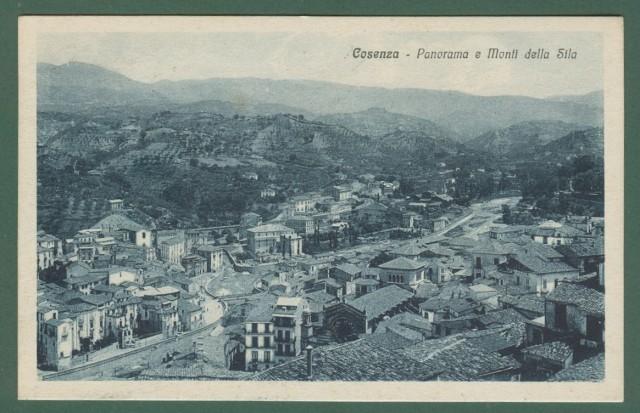 Calabria. COSENZA. Panorama. Cartolina d'epoca viaggiata nel 1929.