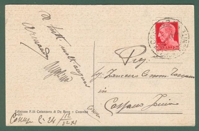 Calabria. COSENZA. Palazzo del Governo. Cartolina d'epoca viaggiata nel 1931