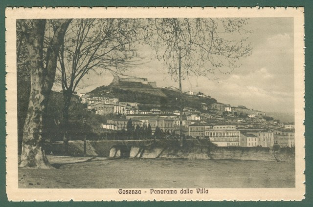 Calabria. COSENZA. Panorama. Cartolina d'epoca viaggiata nel 1918.