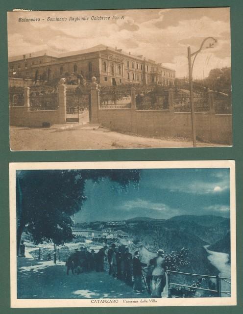 Calabria. CATANZARO. Due cartoline d'epoca viaggiate nel 1919 e 1931.