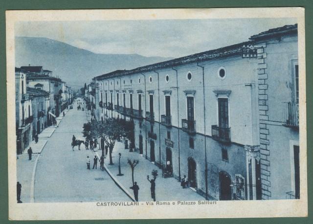 Calabria. CASTROVILLARI, Cosenza. Via Roma. Cartolina d'epoca viaggiata nel 1939