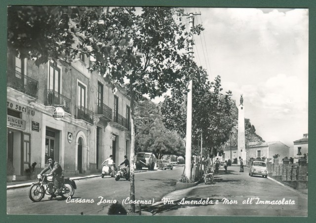 Calabria. CASSANO IONIO, Cosenza. Via Amendola. Cartolina d'epoca viaggiata nel 1965