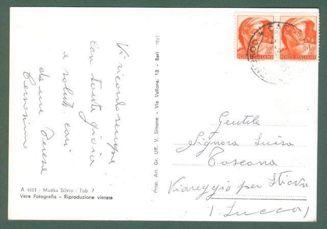 Calabria. CASSANO IONIO, Cosenza. Via Amendola. Cartolina d'epoca viaggiata nel 1966