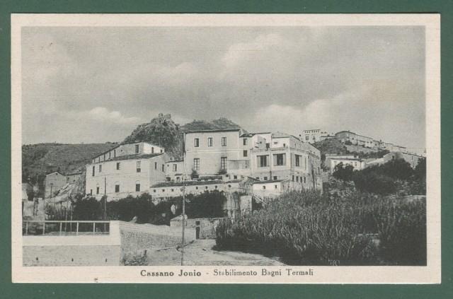 Calabria. CASSANO IONIO, Cosenza. Stabilimento Bagni Termali. Cartolina d'epoca viaggiata nel 1950.