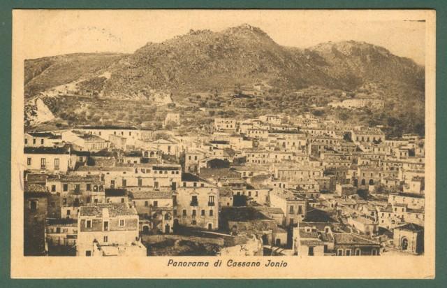 Calabria. CASSANO IONIO, Cosenza. Cartolina d'epoca viaggiata nel 1927