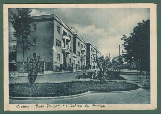 Sardegna. SASSARI. Viale Umberto. Cartolina d'epoca viaggiata negli anni '30.