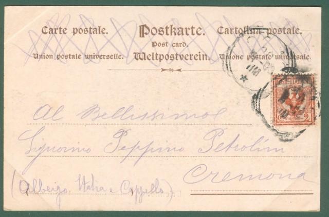Lombardia. BRIENNO, Lago di Como. Cartolina d'epoca viaggiata nel 1903
