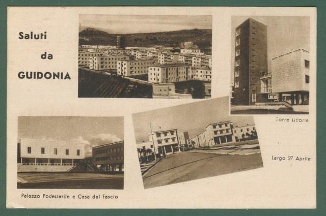 Lazio. GUIDONIA, Roma. Saluti da Guidonia. Cartolina d'epoca viagguiata nel 1946.