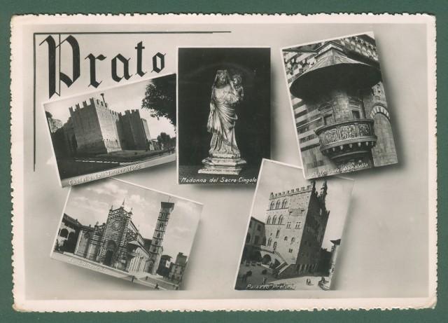 Toscana. PRATO. Cartolina d'epoca viaggiata nel 1952.