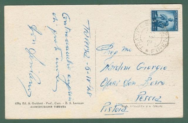Toscana. LA TRAVERSA, Mugello, Firenze. Cartolina d'epoca viaggiata nel 1948