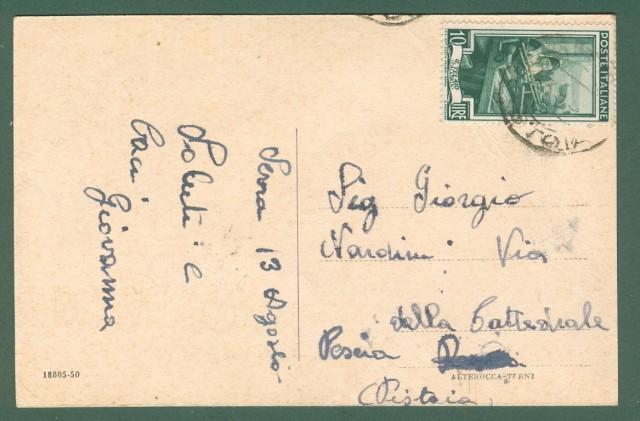Toscana. SERRA PISTOIESE, Pistoia. Cartolina d'epoca viaggiata inizio anni '50