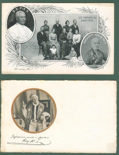 PAPA PIO X. Due cartoline d'epoca.