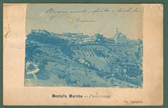 Marche. MONTALTO MARCHE, Ascoli Piceno. Panorama. Immagine applicata su sopporto.