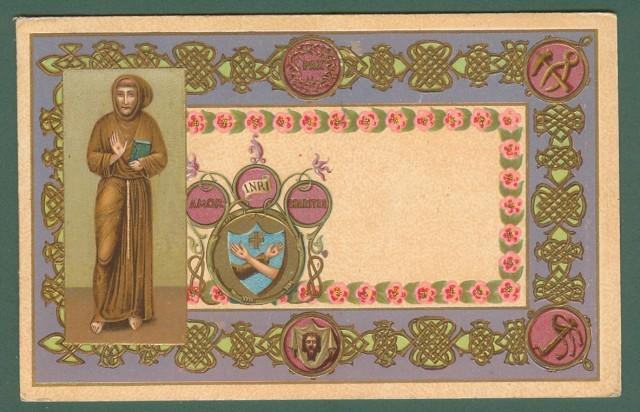 SAN FRANCESCO. Cartoline d'epoca a colori a rilievo, viaggiata nel 1907.