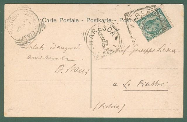 Toscana. MARESCA, Pistoia. Cartolina d'epoca viaggiata nel 1907.