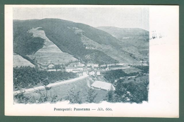 Toscana. PONTEPETRI, Pistoia. Cartolina d'epoca non viaggiata, inizio '900.