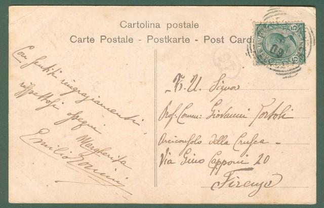 Toscana. MONSUMMANO, Pistoia. Cartolina d'epoca viaggiata nel 1908