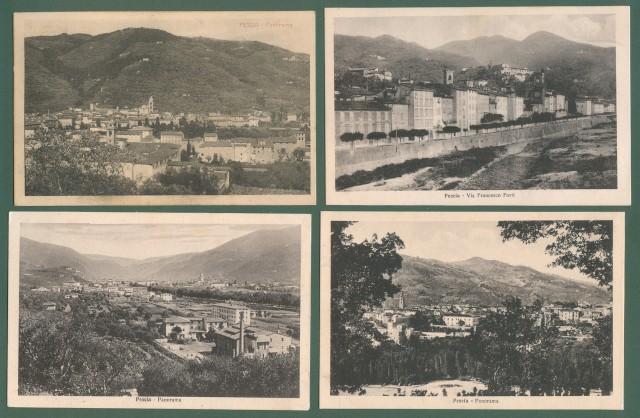 Toscana. PESCIA. Quattro cartoline d'epoca