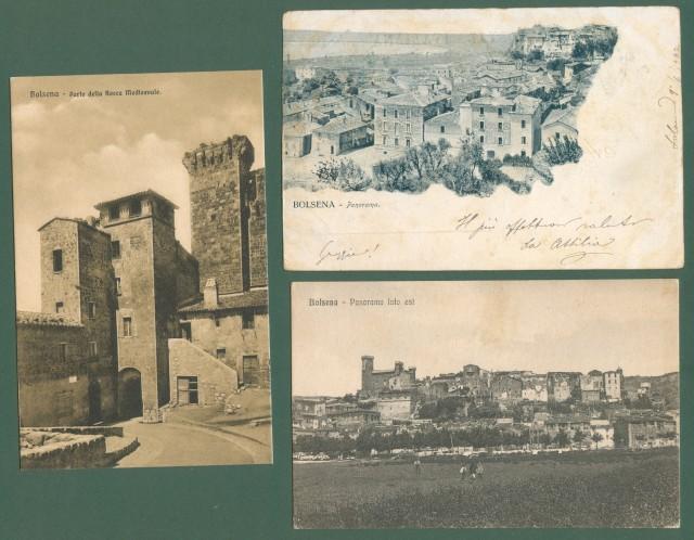 Lazio. BOLSENA, Roma. Tre cartoline d'epoca