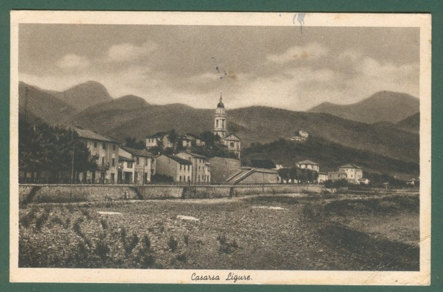 Liguria. CASARSA LIGURE, Genova. Cartolina d'epoca viaggiata nel 1950.