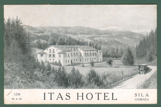 Calabria. COSENZA, La Sila, Contrada Camigliati. Cartolina d'epoca pubblicitaria ITAS HOTEL, viaggiata nel 1933