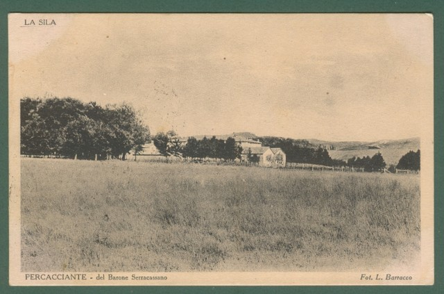 Calabria. COSENZA, Sila. Percacciante. Cartolina d'epoca viaggiata nel 1933.