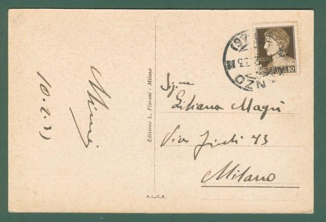 Lombardia. CANZO e ASSO, Como. Panorama del monte Scioscia. Cartolina d'epoca viaggiata nel 1933.