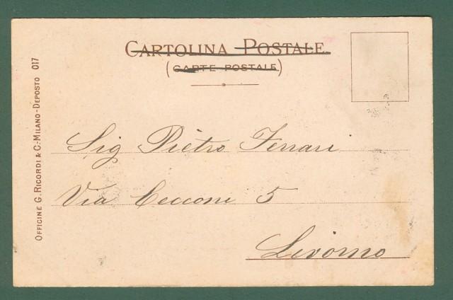 MATALONI GIOVANNI. IRIS di Mascagni. Cartolina d'epoca disegnata nel 1898, viaggiata nel 1902