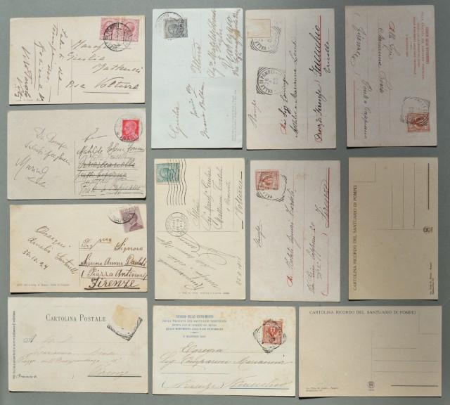 Campania. VALLE DI POMPEI, Napoli. Insieme di dodici cartoline d'epoca (di cui 10 viaggiate tra il 1906 - 1934).