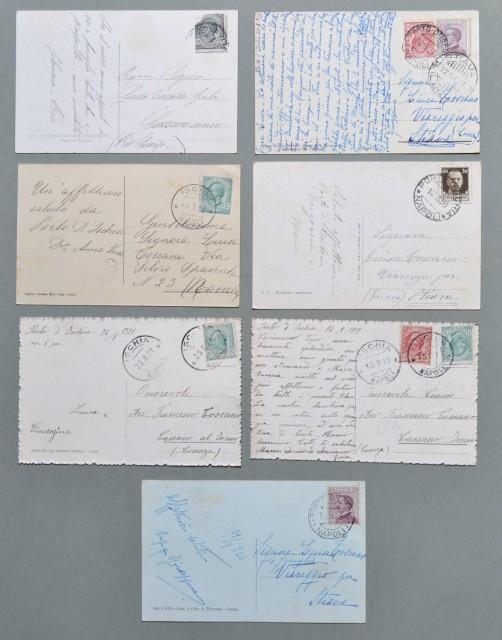 Campania. ISCHIA. Napoli. Sette Cartoline d'epoca viaggiate tra il 1912 - 1936.
