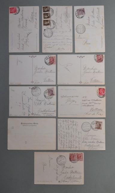 DALMAZIA, ZARA. Dieci cartoline d'epoca viaggiate tra il 1902- 1932.