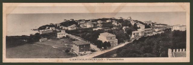 Castiglioncello (Livorno). Panorama. Cartolina doppia.