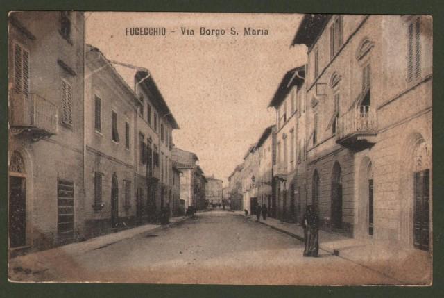 FUCECCHIO (Firenze). Via Borgo S. Maria. Cartolina d'epoca viaggiata nel 1927.