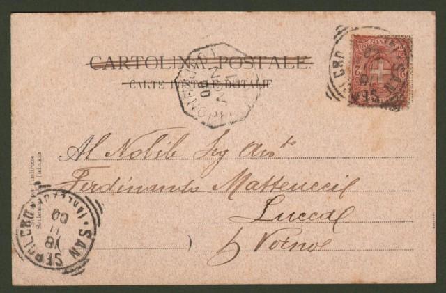 SANSEPOLCRO (Arezzo). Molino e Panificio Buitoni. Cartolina d'epoca viaggiata nel 1900.