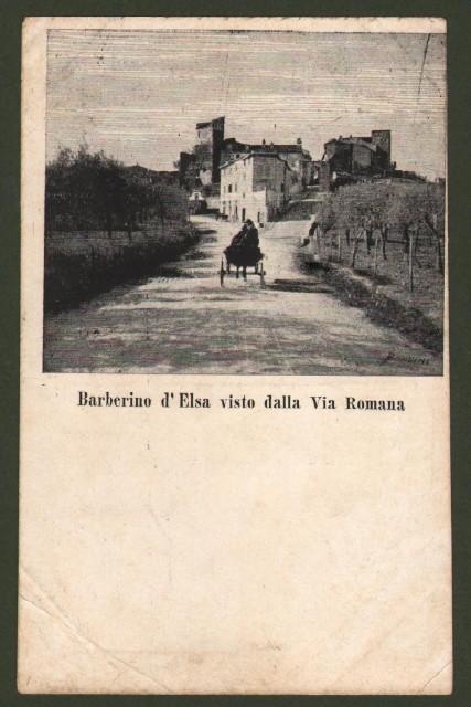 BARBERINO D'ELSA (Firenze). Cartolina d'epoca non viaggiata, circa 1910.
