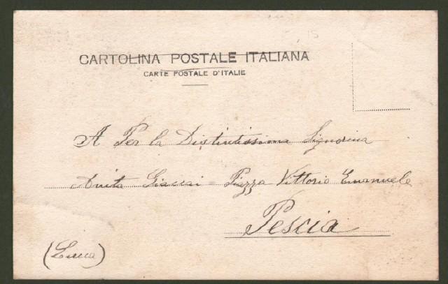 LA SPEZIA. Corso Cavour da Via Chiodo. Cartolina d'epoca viaggiata nel 1905.